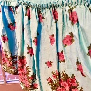 Betsey Johnson Dresses - Betsey Johnson Blue Floral Cotton Sundress